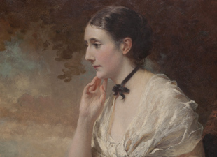 George Elgar Hicks (British, 1824-1914), Portrait of Geraldine Smith-Barry, 1885