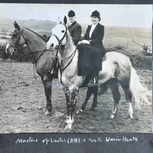 Dorothy Bell as Master of the South Union Hunt