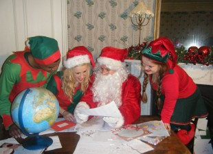 Santa and his elves at Fota!