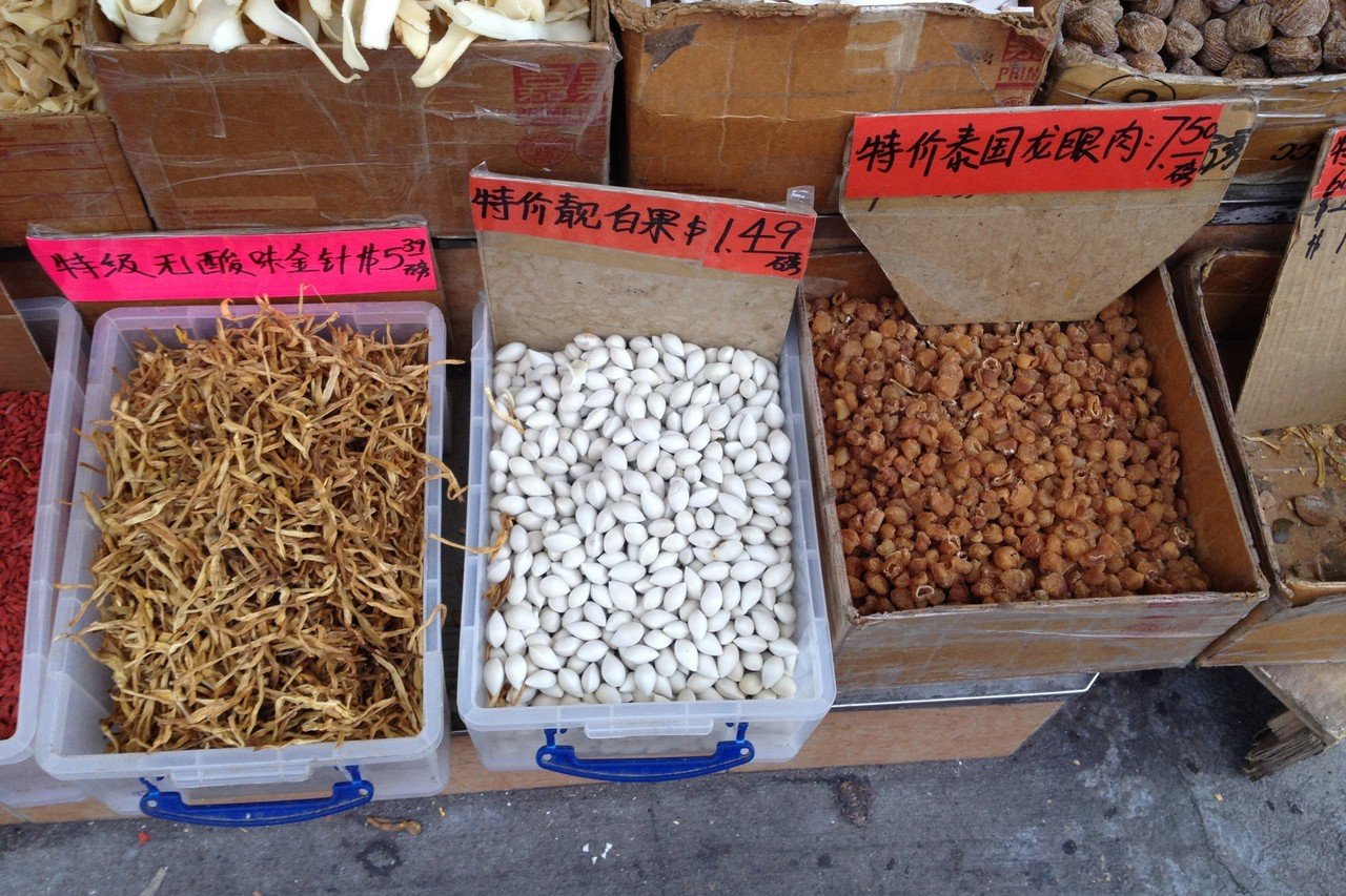 Ginkgo seeds for sale in Chinatown, New York. Image by DAVID MARCELIS/THE WALL STREET JOURNAL