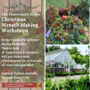 Christmas Wreath Making Workshop at Fota House & Gardens