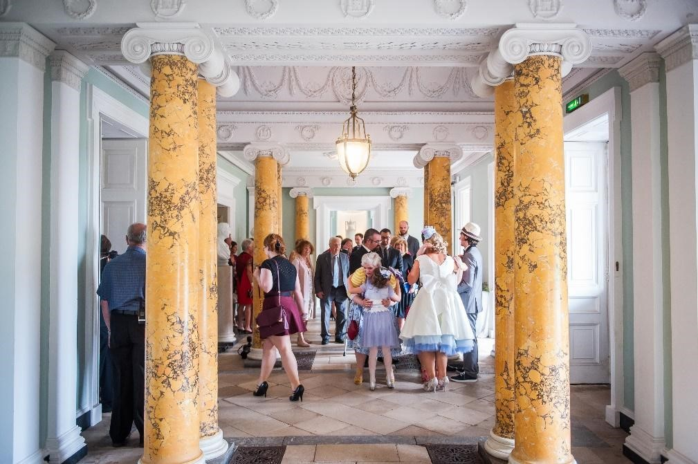 Reception in the hall
